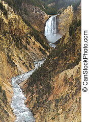 Lower fall of Yellowstone National Park