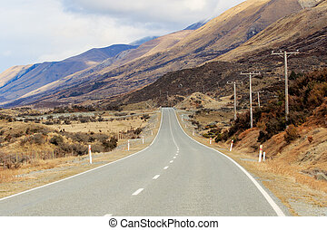 beautiful landscape of mountain highways in south island new...