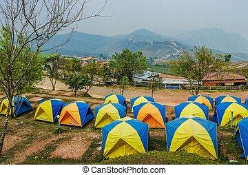 Beautiful landscape of mountain Phu Tub Berk, Petchabun, Thailand