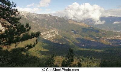 beautiful landscape of mountains