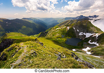 beautiful landscape of Romanian mountains. lovely summer...