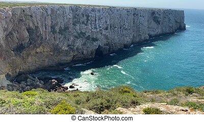 Beautiful landscape of Saint Vincent Cape, Algarve, Portugal...