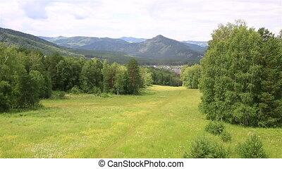 Beautiful landscape of the Altai