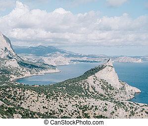 Beautiful landscape of the Crimean nature. Popular tourist destination, Koba-Kaya.