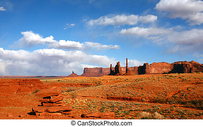 Landscape of the Desert Area of Monument Valley USA