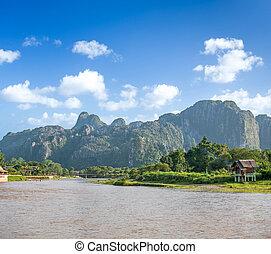 beautiful landscape of Vang Vieng, Laos