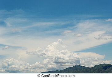 Beautiful landscape on mountain with sky