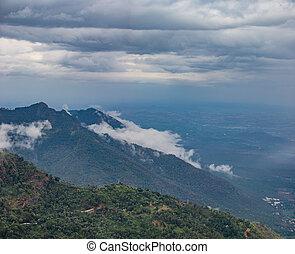 beautiful landscape panorama view background