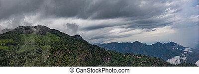 beautiful landscape panorama view wallpaper background