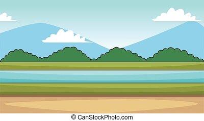 Beautiful landscape scenery HD animation - Beautiful...