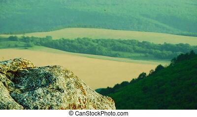 Beautiful landscape - The beautiful landscape of fields and...