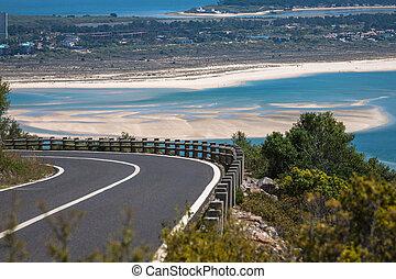 Beautiful landscape view of the National Park Arrabida in Setubal, Portugal.