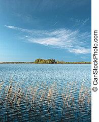 Beautiful landscape with a lake