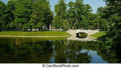 Beautiful landscape with an old bridge - Beautiful landscape...