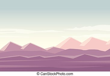 beautiful landscape with desert scene