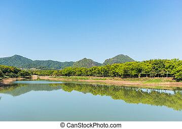 Beautiful landscape with lake