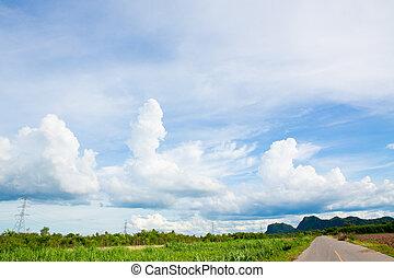 Beautiful landscape with nice sky