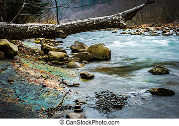 beautiful landscape with river