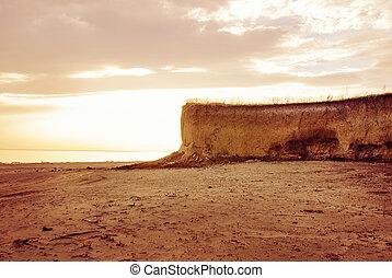 Beautiful landscape with rocks on the coast