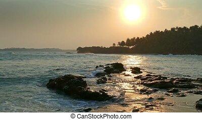 tropical sea sunset on the beach