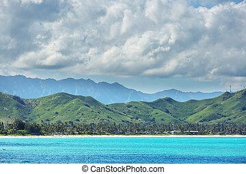 Beautiful landscapes in Oahu island, Hawaii