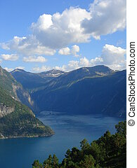 beautiful lanscapes from norwegian fjords in the summer - europe travel