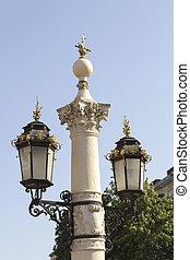 Beautiful lantern on a square