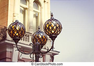 Beautiful lanterns on the street