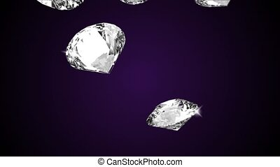 Beautiful Large Close up Crystal Clear Shining Round Cut Diamond, Black mirror Green Screen Loop background. 3D animation. Brilliance, Crystal, Gem, Jewel, Jewelry, Luxury, Reflective, Jewelry, Show.