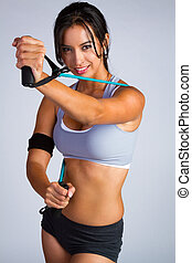 Beautiful Latin Fitness Woman - Beautiful latin fitness...