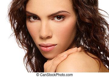 Close-up portrait of young beautiful latina girl
