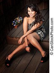 Beautiful Latina Woman