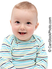 beautiful laughing happy baby boy