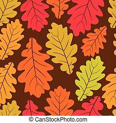 Beautiful leaves seamless pattern,