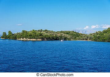 Beautiful Lefkada island. Greece.