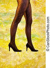 Beautiful legs in elegant tights