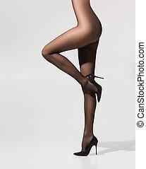 Beautiful legs in pantyhose - Beautiful legs in pantyhose...