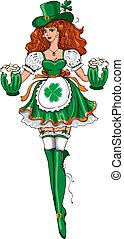 Beautiful leprechaun girl