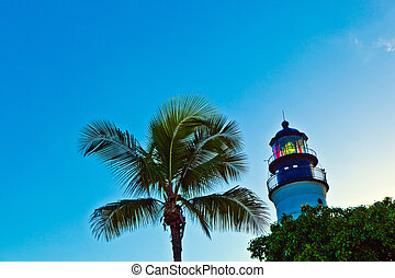 lighthouse from Key West in Florida