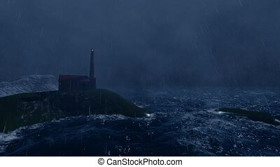 Beautiful lighthouse storm great design for any purposes....
