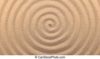 Beautiful lighting effects. Rotation sand in the form of a spiral.