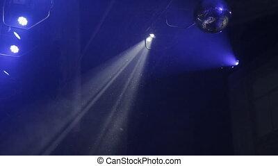 Beautiful lighting spotlight on the music scene, concert,...