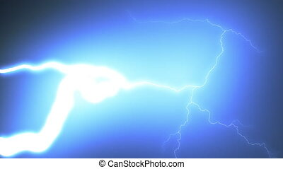 Beautiful Lightning Strikes from Sky to the Camera in Slow Motion. Set of 9 Videos Realistic and Extraordinary Thunderbolts Isolated on Black. Electrical Storm Looped 3d Animation. 4k UHD 3840x2160.