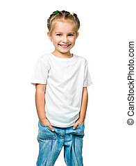 beautiful little fashion model