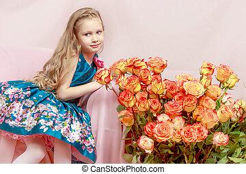 Beautiful little girl 5-6 years. - A beautiful little girl...
