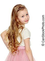 Beautiful little girl 5-6 years. - Beautiful little blonde...