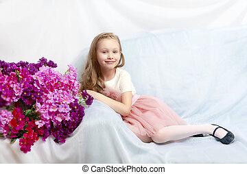 Beautiful little girl 5-6 years. - Caucasian little girl...