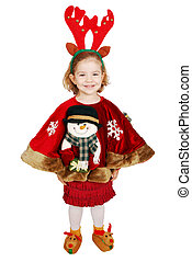 beautiful little girl Christmas
