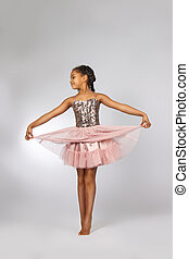 Beautiful little girl dancing