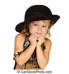 Beautiful little girl in a hat